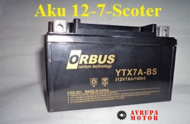 Aku 12-7-Scoter-YTX7A-BS (12V 7AH/10HR)-A-